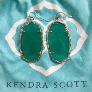 Kendra Scott Danielle Emerald CatsEye Gold Earring